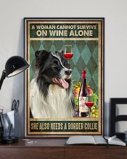 Border Collie Wine 24x36 Poster lifestyle-poster-2