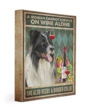 Border Collie Wine 11x14 Gallery Wrapped Canvas Prints thumbnail