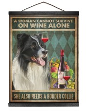 Border Collie Wine 16x20 Black Hanging Canvas thumbnail
