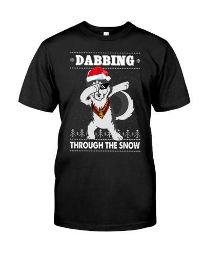 Husky Dabbing Throught The Snow