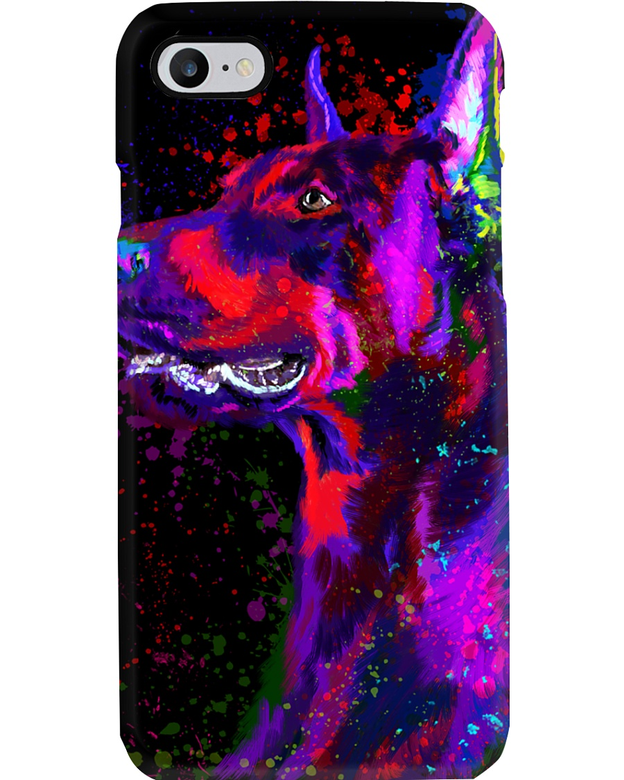 Doberman Water Color Phone Case Phone Case