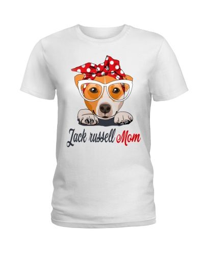 CUTE JACK RUSSELL MOM WHITE SHIRT