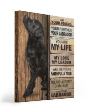 Labrador Partner 16x20 Gallery Wrapped Canvas Prints front