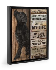 Labrador Partner 11x14 Black Floating Framed Canvas Prints thumbnail