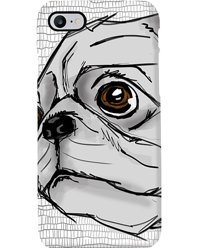 Pug Water Color Phone Case