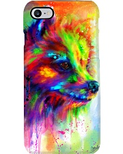 POMERANIAN COLORFUL POSTER Phone Case tile