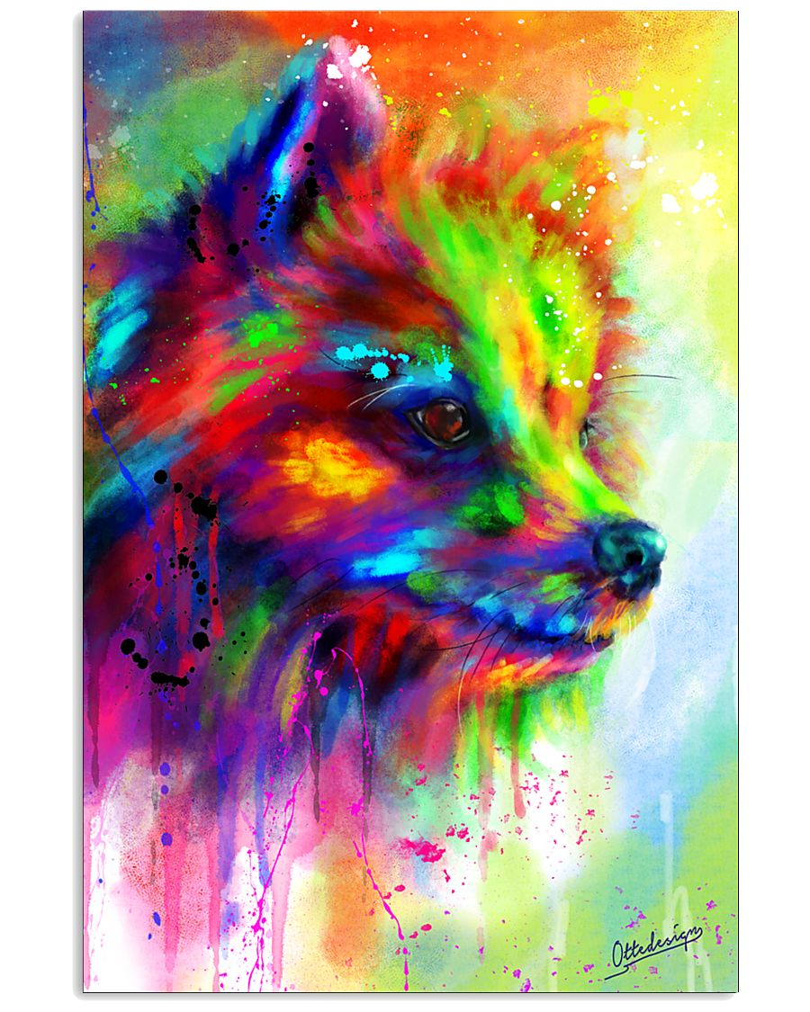 POMERANIAN COLORFUL POSTER 11x17 Poster