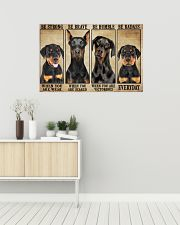 Doberman be strong 36x24 Poster poster-landscape-36x24-lifestyle-01