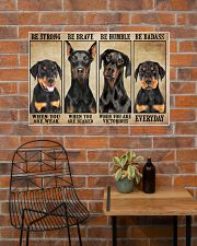 Doberman be strong 36x24 Poster poster-landscape-36x24-lifestyle-20