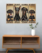 Doberman be strong 36x24 Poster poster-landscape-36x24-lifestyle-21
