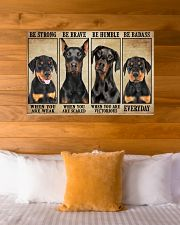 Doberman be strong 36x24 Poster poster-landscape-36x24-lifestyle-23