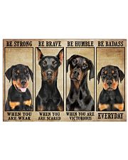 Doberman be strong Horizontal Poster tile