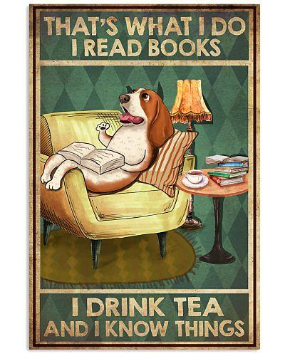 Basset hound I read book