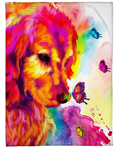 Golden Retriever Buterfly Water color