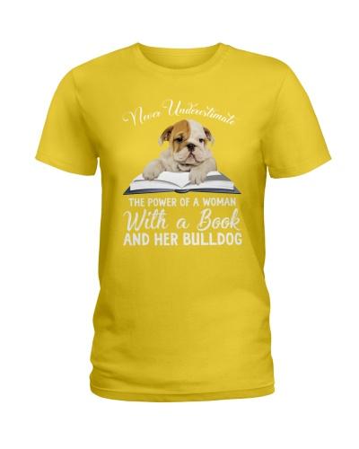 Bulldog With A Book