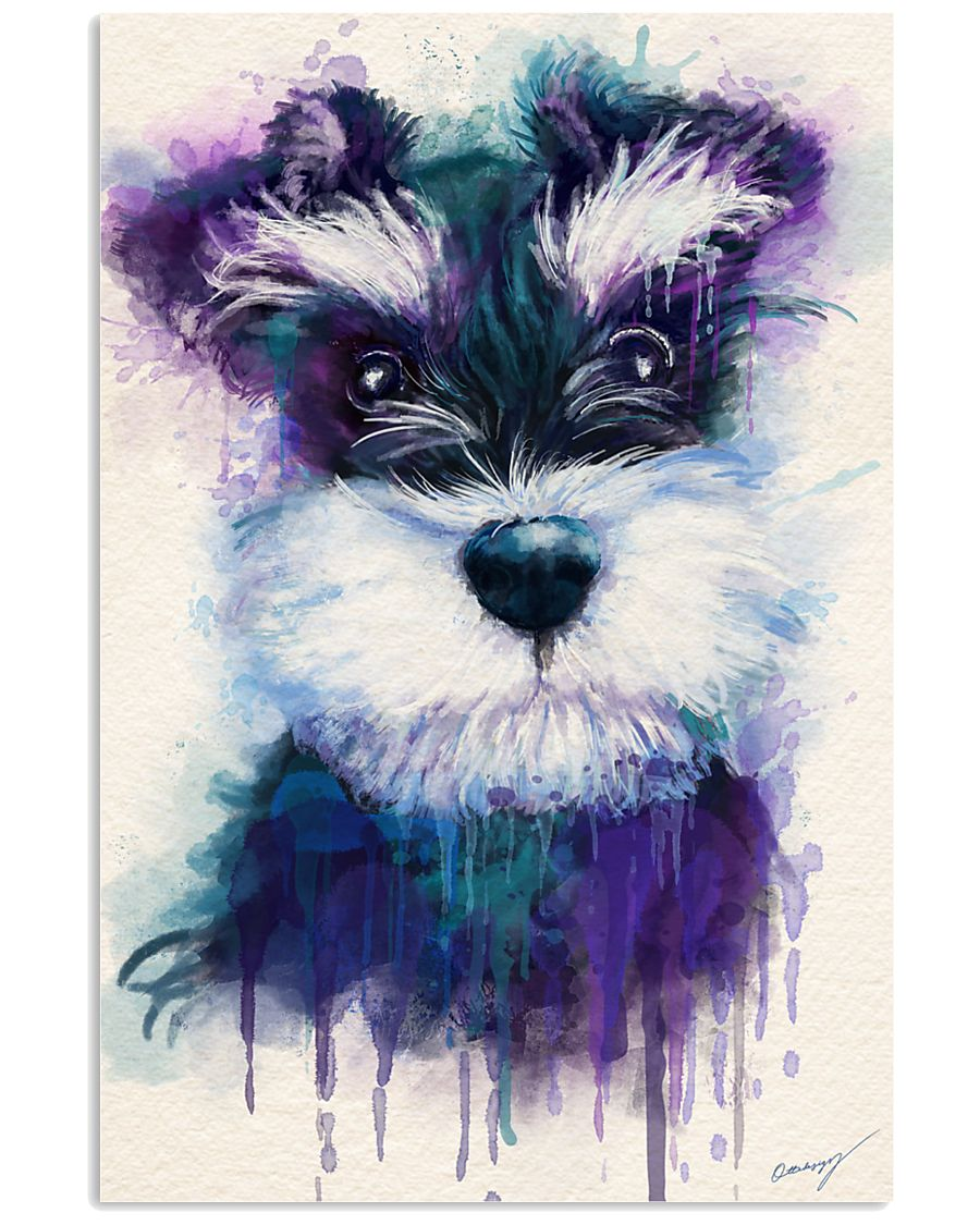 Schnauzer water color 24x36 Poster