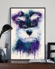 Schnauzer water color 24x36 Poster lifestyle-poster-2
