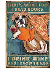 Boxer I read books I drink wine 24x36 Poster front