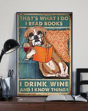 Boxer I read books I drink wine 24x36 Poster lifestyle-poster-2