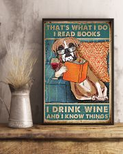 Boxer I read books I drink wine 24x36 Poster lifestyle-poster-3