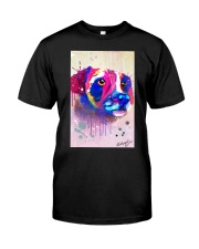Jack Russell Water Color Art Face Art Classic T-Shirt thumbnail