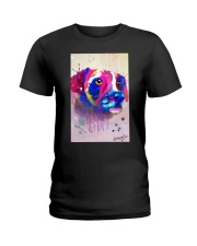 Jack Russell Water Color Art Face Art Ladies T-Shirt thumbnail