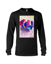 Jack Russell Water Color Art Face Art Long Sleeve Tee thumbnail