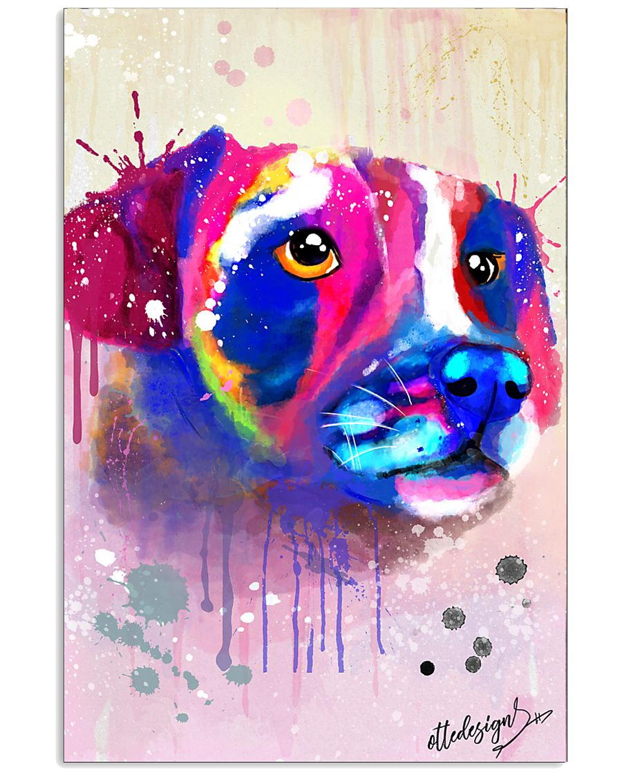 Jack Russell Water Color Art Face Art 11x17 Poster