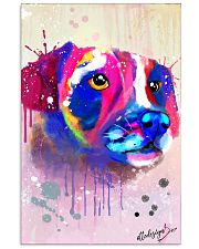 Jack Russell Water Color Art Face Art 11x17 Poster front