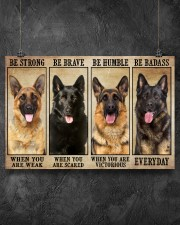 German Sherpherd be strong 36x24 Poster aos-poster-landscape-36x24-lifestyle-11