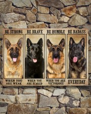 German Sherpherd be strong 36x24 Poster aos-poster-landscape-36x24-lifestyle-15