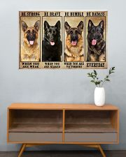 German Sherpherd be strong 36x24 Poster poster-landscape-36x24-lifestyle-21
