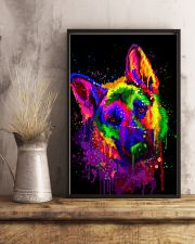 German shepherd color 16x24 Poster lifestyle-poster-3