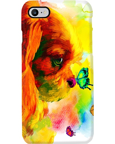 Cavalier Butterfly Water Color Phone Case