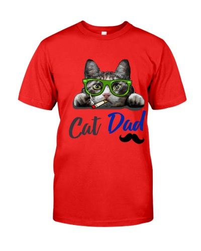Cat all over T-shirt