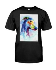 Greyhound Water Color Art Splash Z123 Classic T-Shirt tile