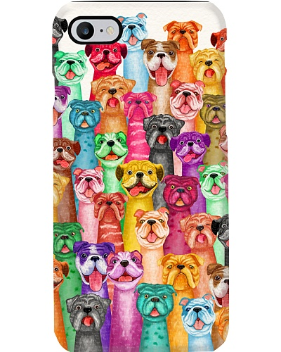 Bulldog phone case multi