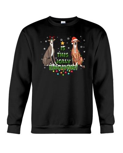 greyhound jolly christmas gift
