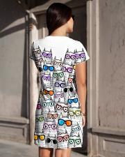 CAT MULTIL GLASSES All-over Dress aos-dress-back-lifestyle-1