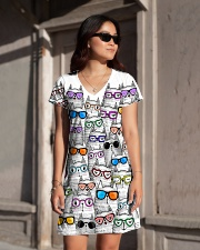 CAT MULTIL GLASSES All-over Dress aos-dress-front-lifestyle-1