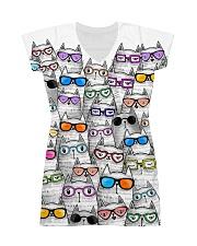 CAT MULTIL GLASSES All-over Dress front