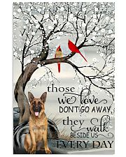 German Sherpherd They walk  beside us every day Vertical Poster tile