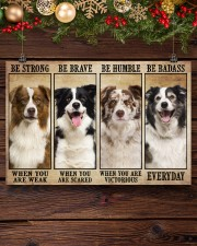 Border Collie Be Strong 36x24 Poster aos-poster-landscape-36x24-lifestyle-24