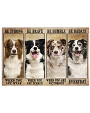 Border Collie Be Strong 36x24 Poster front