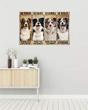 Border Collie Be Strong 36x24 Poster poster-landscape-36x24-lifestyle-01