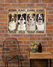 Border Collie Be Strong 36x24 Poster poster-landscape-36x24-lifestyle-20