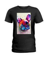 French bulldog Face Art Flow C10 Ladies T-Shirt thumbnail