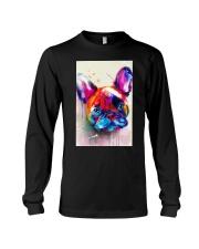 French bulldog Face Art Flow C10 Long Sleeve Tee thumbnail