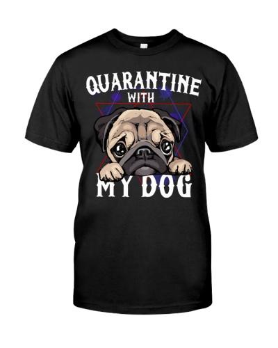 Pug quarantine with my dog