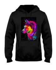 Husky Water Color Art DF1 Hooded Sweatshirt thumbnail